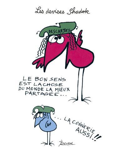 Les Devises Shadok IIII-Jacques Rouxel-Art Print