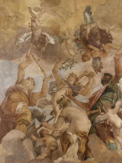 Image De Apollon les dieux de l'olympe : jupiter, apollon, diane et mars giclee print
