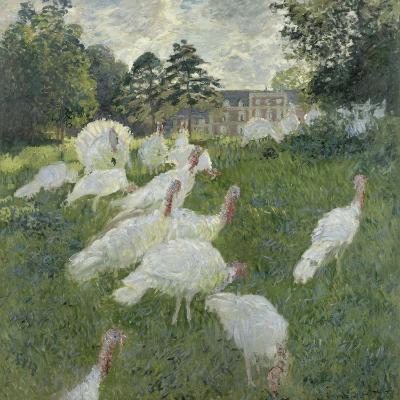 Les dindons-Claude Monet-Giclee Print