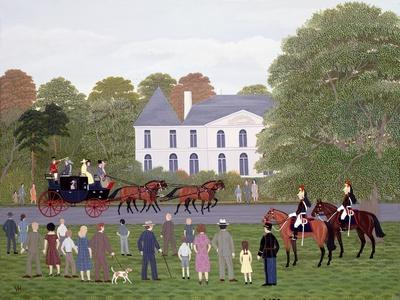Les Drags - Longchamps and the Guard Republican-Vincent Haddelsey-Giclee Print