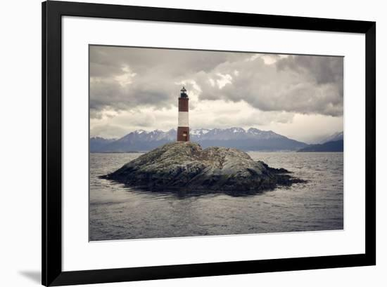 Les Eclaireurs lighthouse, Tierra del Fuego, Argentina, South America-Fernando Carniel Machado-Framed Photographic Print
