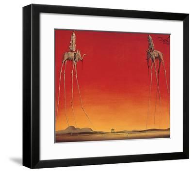 Les Eléphants-Salvador Dali-Framed Art Print