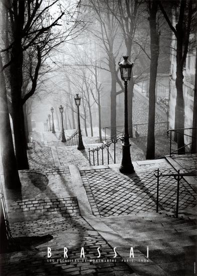 Les Escaliers de Montmartre, Paris-Brassa?-Art Print