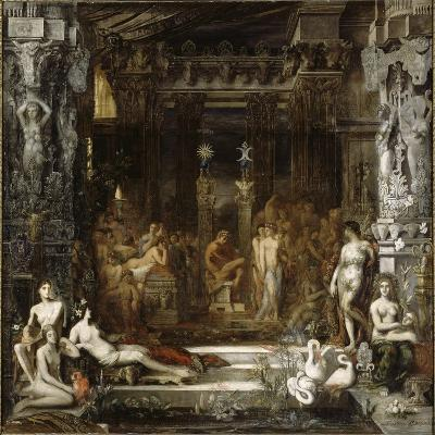 Les Filles de Thespius-Gustave Moreau-Giclee Print