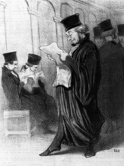 Les Gens De Justice, Cartoon from 'Le Charivari', 26 March, 1846 (Litho)-Honore Daumier-Giclee Print