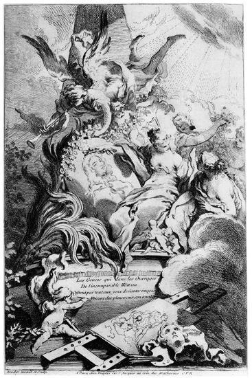 Les Graces Au Tombeau De Watteau, C1720-1770-Fran?ois Boucher-Giclee Print