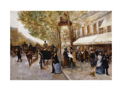 Les Grands Boulevards, Paris-Giovanni Lessi-Giclee Print