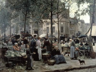 Les Halles, Paris 'Central Market', 1880-Gilbert Victor Gabriel-Giclee Print