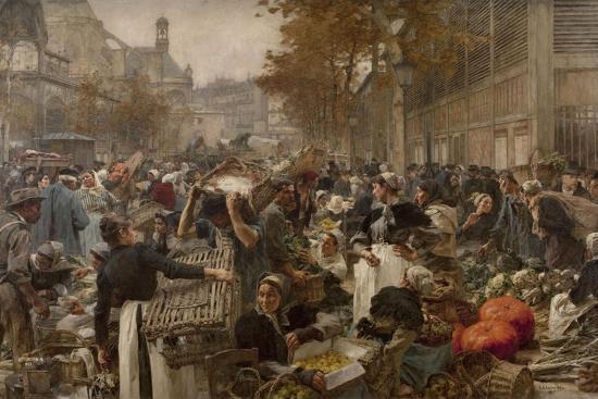 Les Halles-L?on Lhermitte-Giclee Print