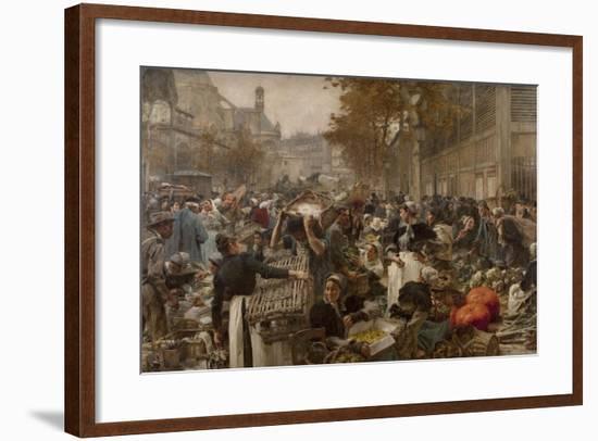 Les Halles-Léon Lhermitte-Framed Giclee Print
