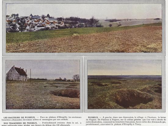 Les Hauteurs De Puisieux, Puisieux, Nos Tranchees De Puisieux-Jules Gervais-Courtellemont-Photographic Print