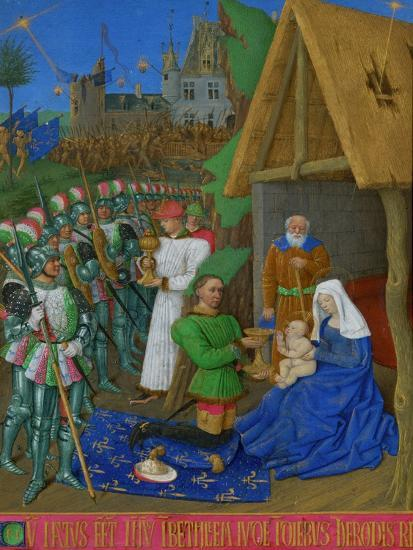 Les Heures D'Etienne Chavalier: Adoration of the Three Magi-Jean Fouquet-Giclee Print