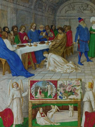 Les Heures D'Etienne Chavalier: Mary Magdalen at the Feast of Simon-Jean Fouquet-Giclee Print