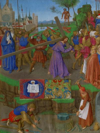 Les Heures D'Etienne Chavalier: The Carrying of the Cross-Jean Fouquet-Giclee Print