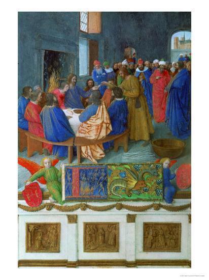 Les Heures D'Etienne Chavalier: The Last Supper-Jean Fouquet-Giclee Print