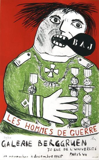 Les Hommes De Guerre-Enrico Baj-Limited Edition