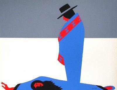 Les Indiens III-Jean Coulot-Serigraph