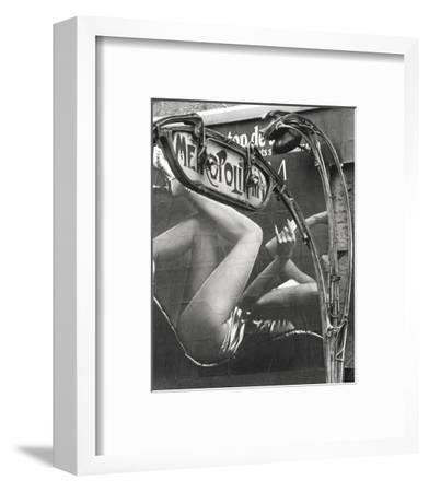 Les Jambes du Métro, Paris, 1971-Robert Doisneau-Framed Art Print