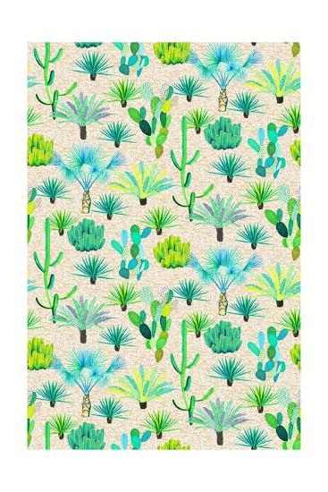 Les Jardins Majorelle - Cacti-Jacqueline Colley-Giclee Print