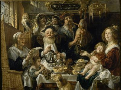 Les Jeunes piaillent comme chantent les vieux-Jacob Jordaens-Giclee Print