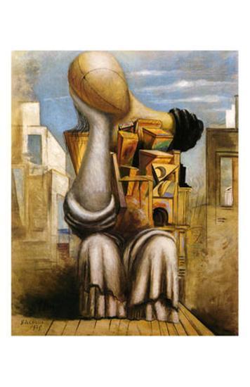 Les Jeux Terribles, c.1925-Giorgio De Chirico-Art Print