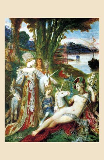 Les Licornes-Gustave Moreau-Art Print