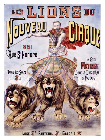 Les Lions du Nouveau Cirque-C. Levy-Giclee Print