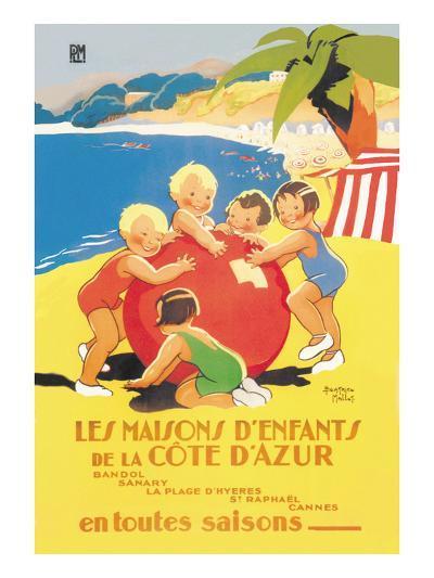 Les Maisons D'Enfants De La Cote D'Azur-Beatrice Mallet-Art Print