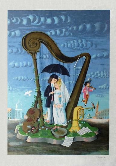 Les mari?s sous le parapluie-Raymond Peynet-Premium Edition