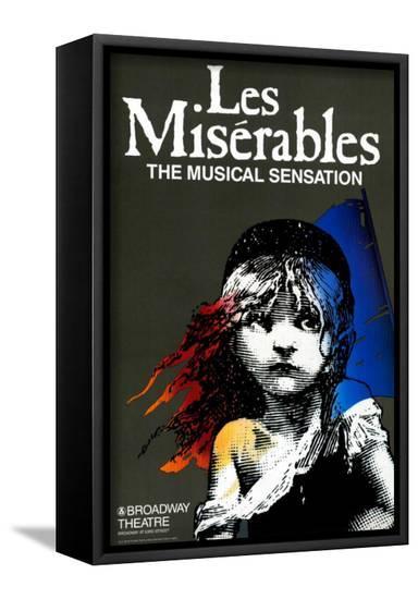 Les Miserables (Broadway)--Framed Canvas Print