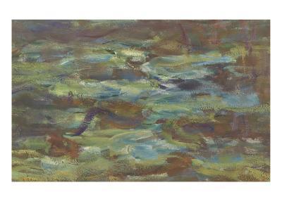 Les Nymph� : Soleil couchant-Claude Monet-Giclee Print