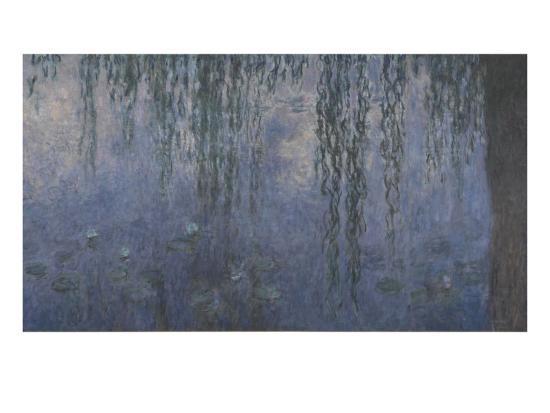 Les Nymphéas : Le Matin aux Saules-Claude Monet-Giclee Print