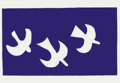 Les Oiseaux-Georges Braque-Serigraph