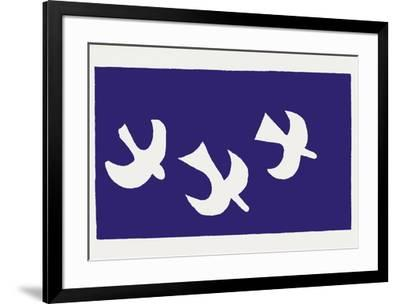 Les Oiseaux-Georges Braque-Framed Serigraph