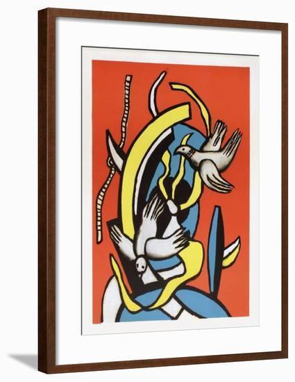 Les oiseaux-Fernand Leger-Framed Art Print