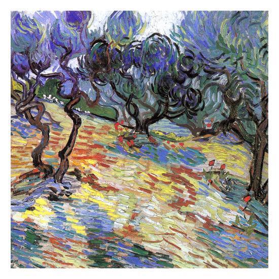 Les Oliviers-Vincent van Gogh-Art Print