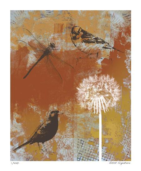 Les Ouiseaux II-Mj Lew-Giclee Print
