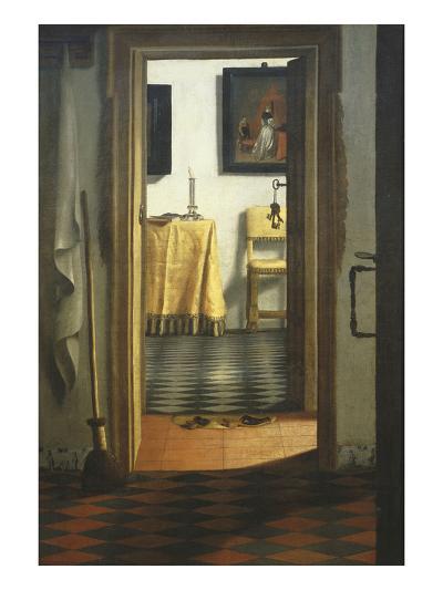 Les Pantoufles, the Slippers, or Interior View-Samuel van Hoogstraaten-Giclee Print
