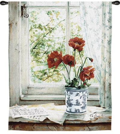Les Pavots-Fabrice De Villeneuve-Wall Tapestry