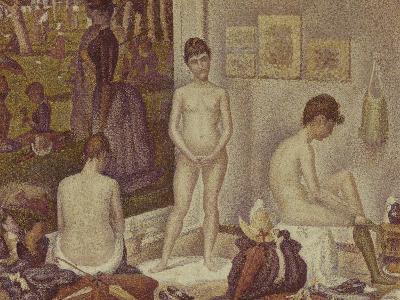 Les Poseuses Including a Reference to Dimanche Apres-Midi Sur la Grande Jatte, Umbrella-Georges Seurat-Giclee Print
