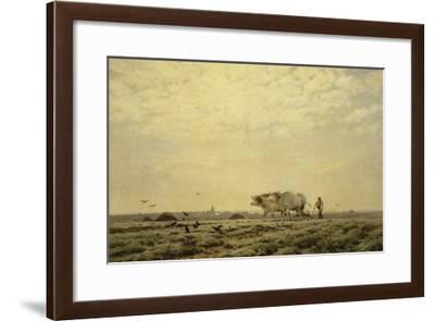 Les premiers sillons ; Haute Alsace, dit aussi le laboureur-Henri Zuber-Framed Giclee Print