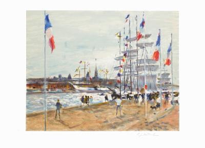 Les quais à Rouen-Gaston Sebire-Limited Edition