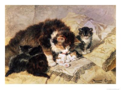 Les Quatre Chatons-Henriette Ronner Knip-Giclee Print