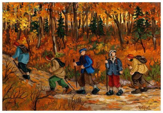 Les randonneurs-Nicole Laporte-Art Print