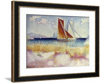 Les Regates, 1895-Henri Edmond Cross-Framed Giclee Print