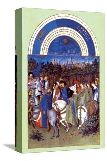 Les Riches Heures du Duc de Berry, Mai--Stretched Canvas Print