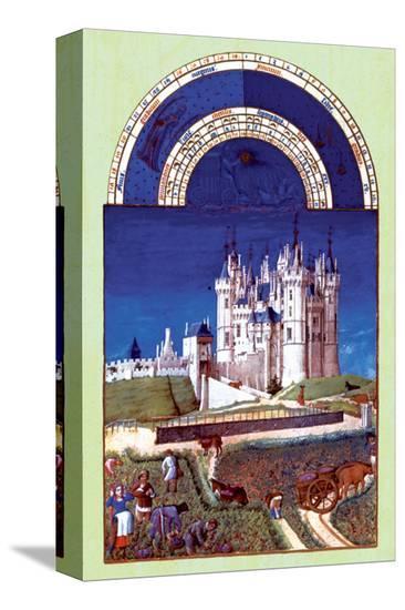 Les Riches Heures du Duc de Berry, Septembre--Stretched Canvas Print