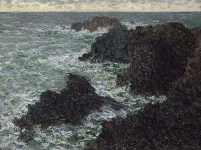 Les rochers de Belle-île, la Côte sauvage-Claude Monet-Giclee Print