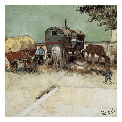 Les Roulottes, Campement De Bohémiens-Vincent van Gogh-Art Print