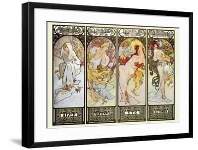 Les Saisons-Alphonse Mucha-Framed Art Print
